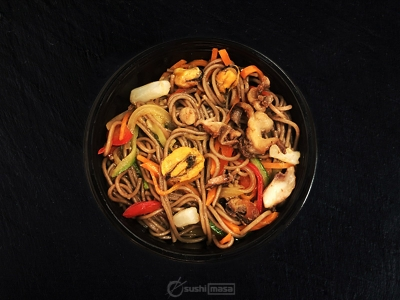Соба с морепродуктами /Терияки/